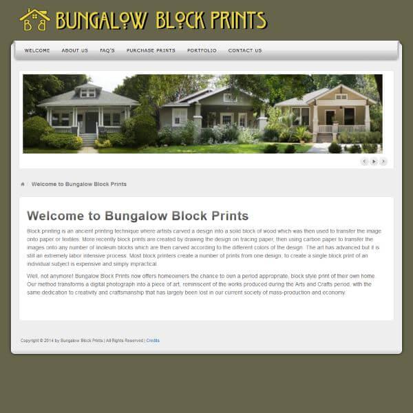 Bungalow Block Print